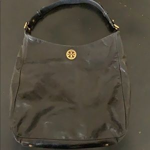 Black hobo Tory Burch leather bag